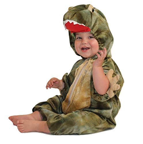 Baby Jurassic Rex Costume - Dinosaur Infant Toddler Costume Green (12-18 Months)