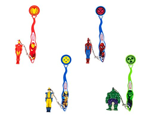 Marvel Smileguard Travel Toothbrush with Cover and Keychain for Kids, Styles Vary, 2-pack