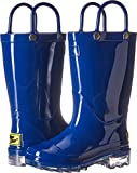 Western Chief Kids Baby Waterproof PVC Light-Up Rain Boot, Solid Blue, 9/10 Medium US Toddler