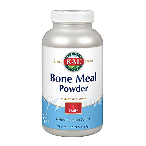 KAL Bone Meal Powder | Sterilized & Edible Supplement Rich in Calcium, Phosphorus, Magnesium | For Bones, Teeth, Nerves, Muscular Function | 16 - Blend Nerve
