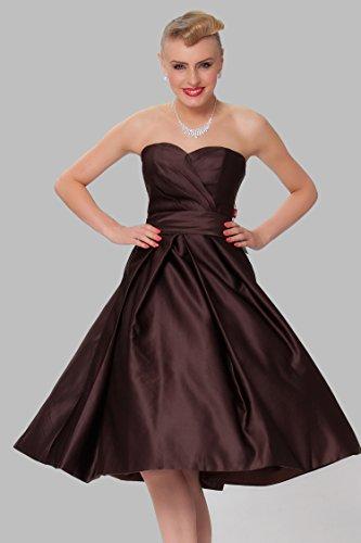 rodilla la tirantes las vestido damas honor c¨®ctel COJ1512 SEXYHER sin Richchocolate de Hasta Gorgeous de CIwgwRqX