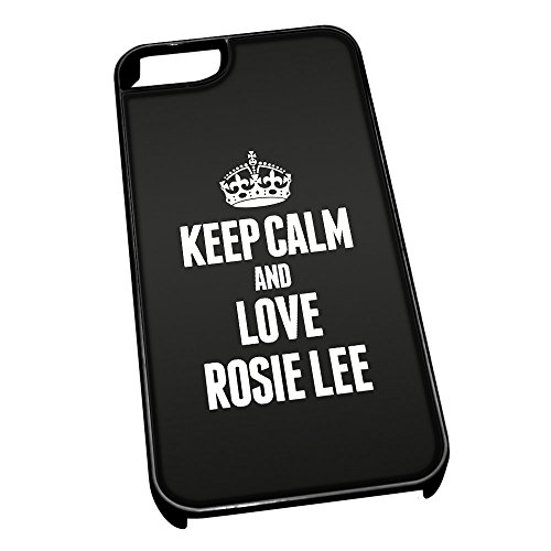 Nero cover per iPhone 5/5S 1467 nero Keep Calm and Love Rosie Lee
