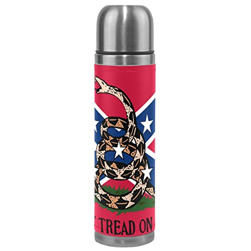 Dont Tread on Me Gadsden Flag 17 oz Double Walled Vacuum Insulated Stainless Steel Water Bottle Vacuum Flask Travel Mug Thermos Coffee Cup
