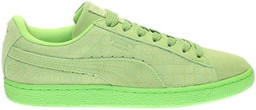 Puma Heren Suede Op Enkelhoge Mode Sneaker Groene Flits / Wit