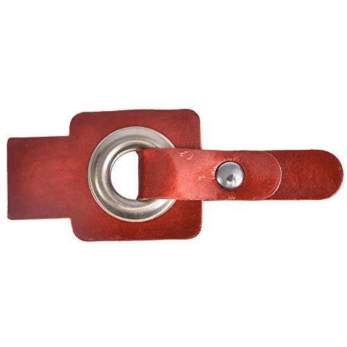 Red Grommets (Mibo Sew On Faux Leather Tab Closure1/2