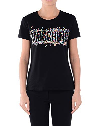 A070241401555 Donna Cotone T Moschino shirt Nero Bxt0cP0qw