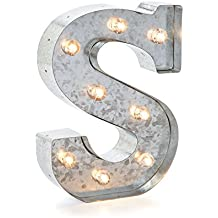 """Darice 5915-719 Silver Metal Marquee Letter 9.875""""-S"""
