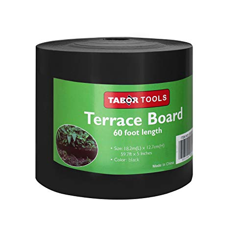 - TABOR TOOLS Terrace Board, Landscape Edging Coil, 1/25 Inch Thick, 5 Inch High. ES24. (60 Feet, Black)