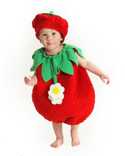 Princess Paradise Baby Girls' Bubble Strawberry Deluxe Costume, As Shown, 12 to 18 (Halloween Baby Costumes 2017)