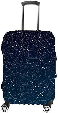 スーツケースカバー 伸縮素材 トラベルダストカバー キャリーカバー 紛失防止 汚れや傷防止 お荷物保護 トラベルダストカバー 着脱簡単 通気性 海外旅行 出張用 便利グッズ 男女兼用 星座