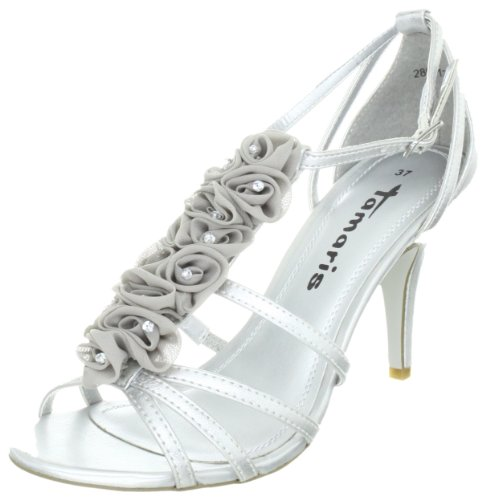 Tamaris Black, WoMen Sandals Silber (Silver 941)