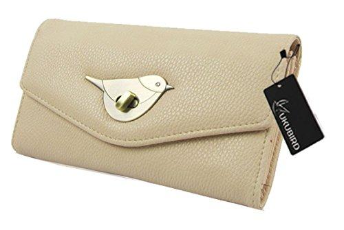 Bird Grande Dames monnaie Porte Pochette Premium apricot Fermoir Kukubird Portefeuille Taille TxwqPAgn5