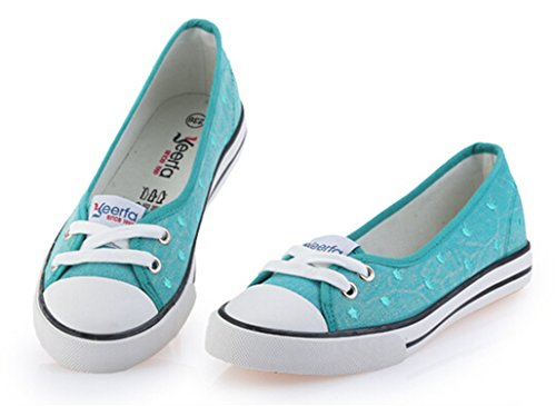 New-Loft Candy Color Slip on Casual Shoes for Women Summer New Arrival Shallow Mouth Flat Shoes,Green,4.5