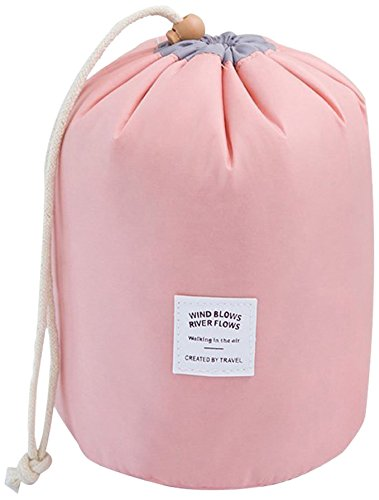Tancendes Waterproof Travel, Makeup, Cosmetic Bag, Travel Kit Organizer, Bathroom Storage Cosmetic Bag Carry Case, Toiletry Bag, Pink