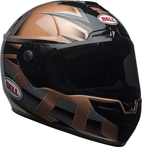 Bell SRT Street Motorcycle Helmet (Gloss Copper/Black Predator, Large)