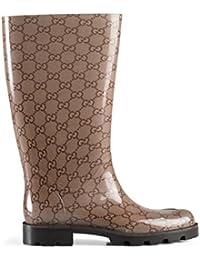 Women's Beige Edimburg GG Guccissima Rain Boots Shoes