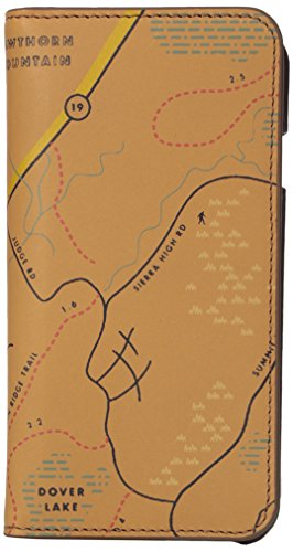 Fossil Embossed Wallet - Fossil Men's Embossed Map Leather Phone Case Wallet Iphone 7