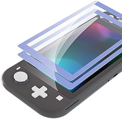 eXtremeRate 2 Protectores de Pantalla para Nintendo Switch Lite Protector de Pantalla de Vidrio Templado Transparente HD con Borde Colores Anti-arañazos,Anti-huella,Inastillable,Sin Burbujas(Violeta Claro): Amazon.es: Electrónica