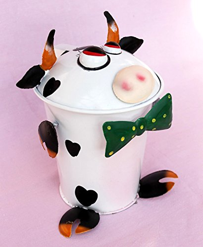 DanDiBo Table bin Cow BL-78 made from metal 20 cm Bin by DanDiBo