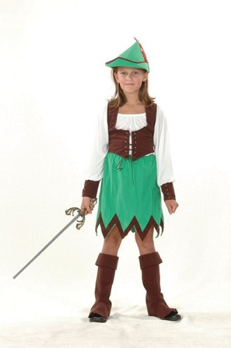 Large Girls Deluxe Robin Hood Costume