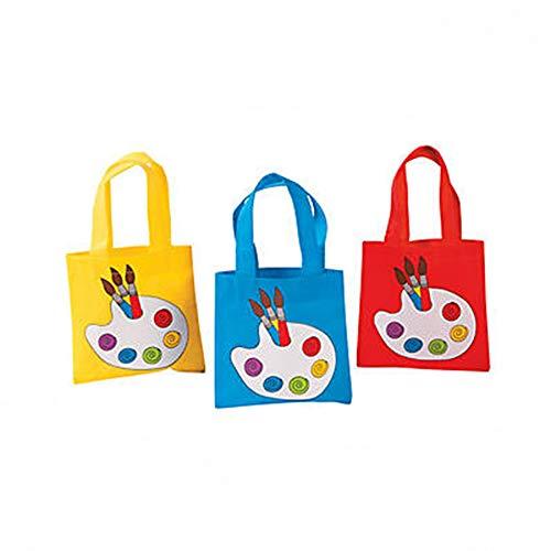 (Little Artist Paint Palette Tote Party Favor Bags - 12)