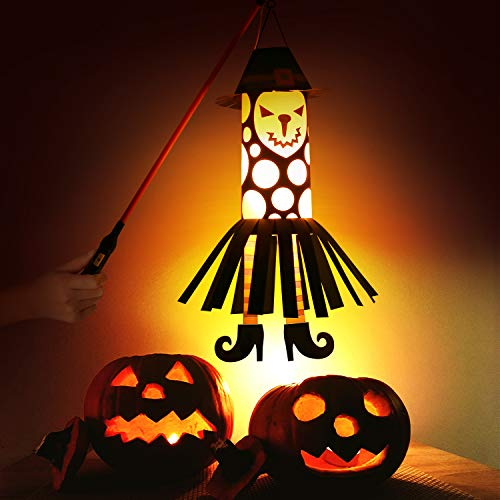 Halloween Decorations Paper Lanterns with LED Light for