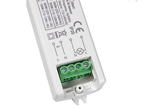 Maclean - Energy mce84 - Detector de Presencia pir de Corto Alcance Empotrado: Amazon.es: Informática