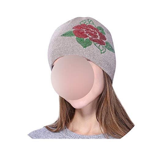 Hat Women Skullies Knit Plus Thick Winter Warm Comtable Adjustable Exquisite Leather Caps