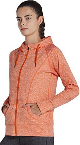 (Komprexx Womens Full-Zip Jackets Sports Training Hoodies Track Jacket Pockets 14oz)