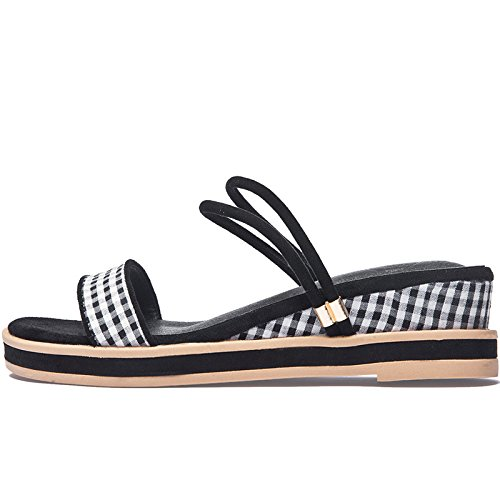 Señoras Flip nuevo al verano aire Negro Moda Plataforma Flop de Flip Flop libre señoras SOHOEOS de la E8qwxRdE