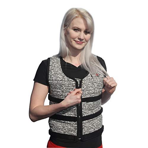 Mir Super Slim AIR Flow Adjustable Weighted Vest Machine Washable. for Men & Women (Black - 16LBS) by Mir (Image #6)