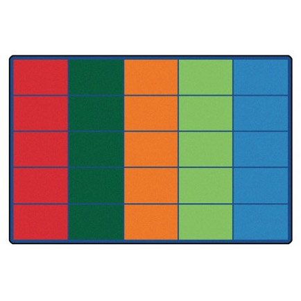 Carpets for Kids 4025 Colorful Rows Seating Rug