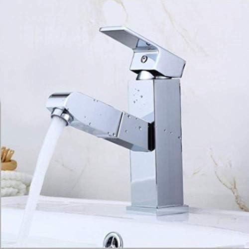 guomao 洗面器の流しの下で蛇口を引っ張って下さい冷たく洗面器の蛇口銅ボディの正方形の蛇口