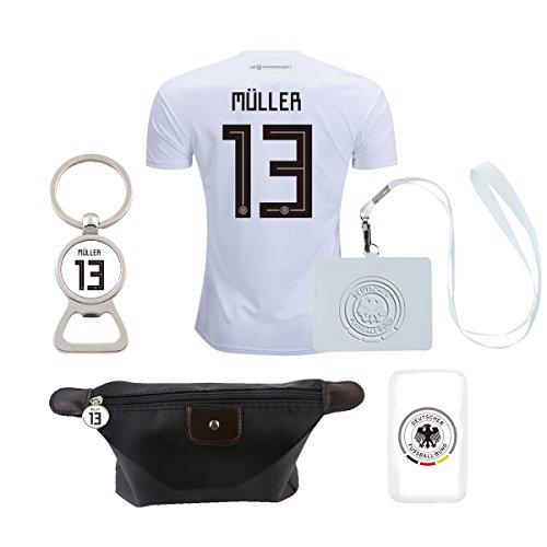EE bestort Germany #13 Muller 2018 Home Mens Soccer Jersey Color White (Large)