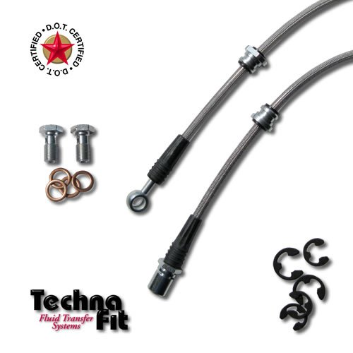 Techna-Fit Brake Lines SUBARU 2002-2007 IMPREZA WRX, COUPE, SEDAN ALL REARS (2) - SUB-1050R