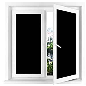 "Vivi Do Blackout Window Film,Static Cling Window Tint 100% Light Blocking Glass Film for Privacy,Home Security,Insulation, and Day Sleep - No Residue, UV Prevention, Easy Removal (17.7"" x 78.7"")"