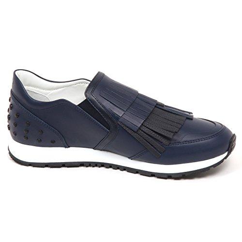 Shoe Donna Woman E2802 Sneaker Sportivo blu Frangia Scarpe Tod's R4qw1z00