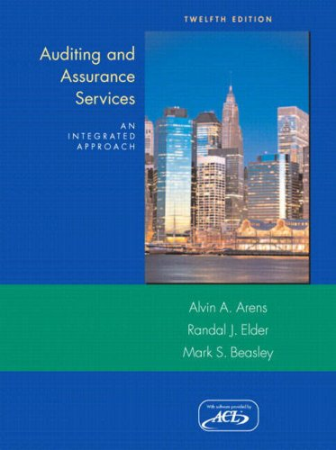 Auditing and Assurance Services: An Intergrated Approach and ACL Software (12th Edition)