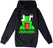 Kids Unspeakable Funny YouTube Gamer Long Sleeve Pullover Hoodies for Boys and Girls Tees Tops Hoody T-Shirt