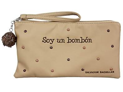 BOLSITA G Soy UN BOMBÓN NEWGRAFITI 71427 Taupe: Amazon.es ...