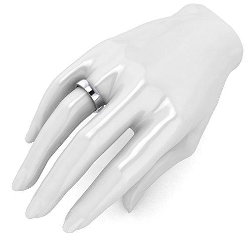LANDA JEWEL 5mm Heavy Sterling Silver Comfort Fit Polished Womens Wedding Ring Plain Band (9) by LANDA JEWEL (Image #3)