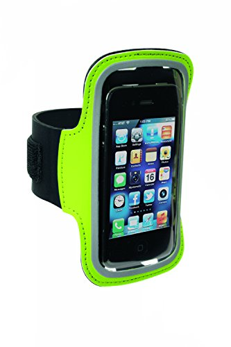 Sportline Smart Phone Green Armband for i-Phone 4, 4s, 5, 5s, 6, 6s, Droid Razr, And Samsung Galaxy S3, S4, Size X-Large (Armband Green Apple)