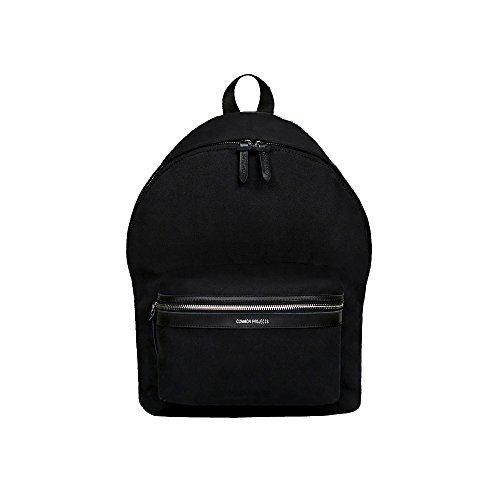 fashionable-black-school-travel-canvas-rucksake-business-trip-backpack