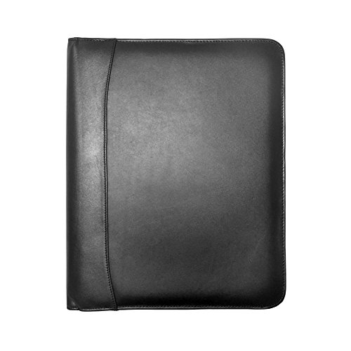 Winn International Cowhide Napa Leather Letter Size Pad Holder in Black
