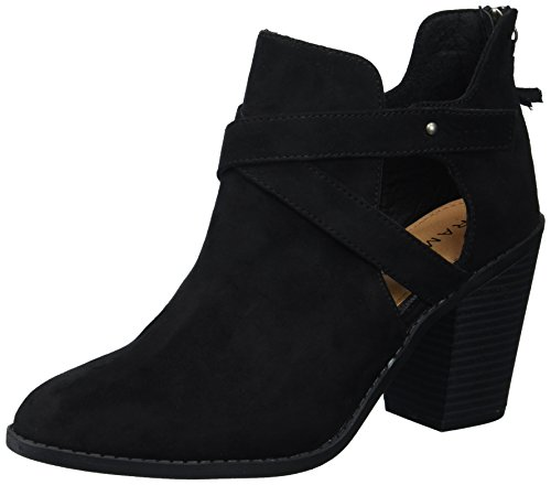 Rampage Women's Ram-Vedette Ankle Boot, Black Micro Suede, 10 M US]()