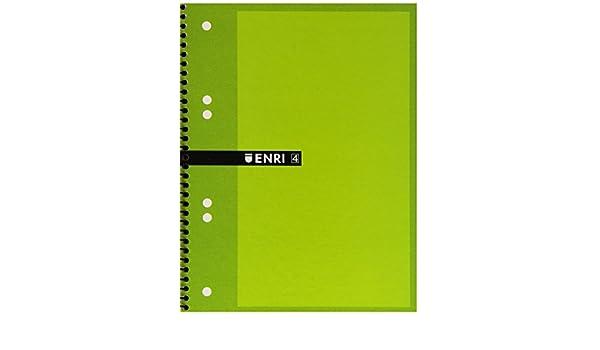 Enri 100430087 - Cuaderno microperforado, cuadricula 5 x 5, 40 ...