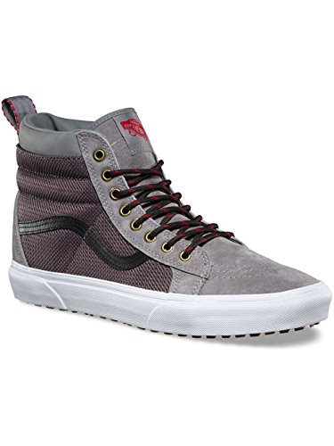 (Vans Unisex Sk8-Hi MTE (MTE) Frost Gray/Ballistic Skate Shoe 7 Men US/9.5 Women US)