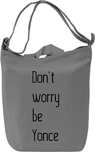 Be Yonce Borsa Giornaliera Canvas Canvas Day Bag  100% Premium Cotton Canvas  DTG Printing 