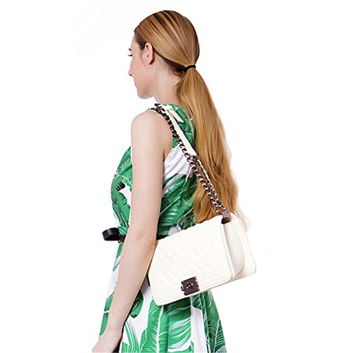 Luxury Handbags Women Designer Vintage Evening Clutch Shoulder Messenger Bag White Big