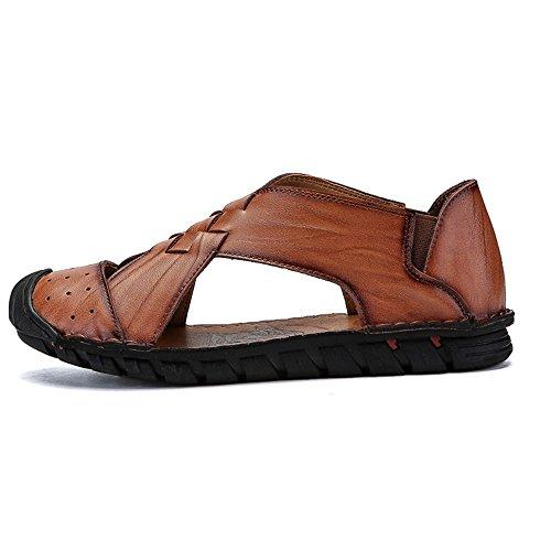 brown Color all'aperto 41 sportivi pelle spiaggia spiaggia uomo 1 EU in Size estivi Sandali Brown da Sandali pescatore Light 3 Sandali da Reddish da scarpe da qavZdwUR